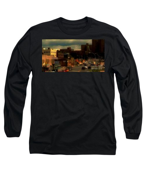 Long Sleeve T-Shirt featuring the photograph Lowering Clouds by Miriam Danar