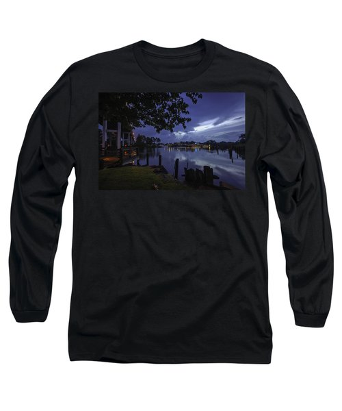 Long Sleeve T-Shirt featuring the digital art Lu Lu S Before The Storm by Michael Thomas
