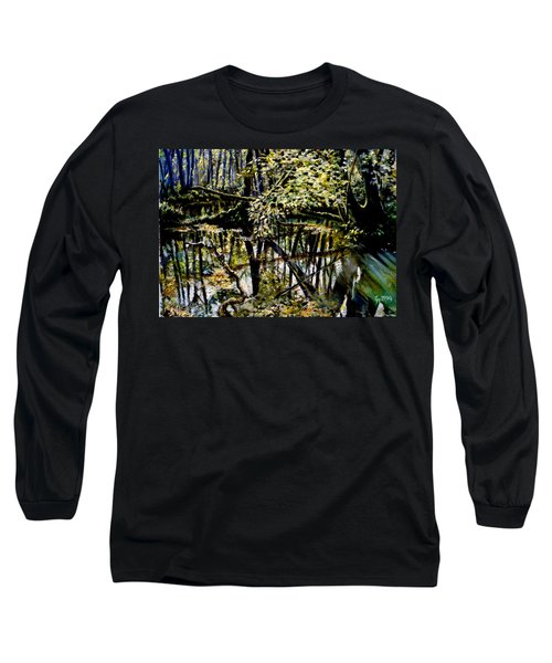 Lubianka-4 Mystery Of Swamp Forest Long Sleeve T-Shirt by Henryk Gorecki