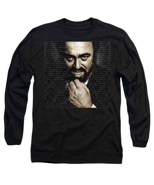 Luciano Pavarotti Long Sleeve T-Shirt