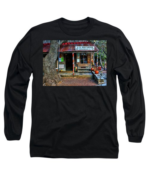 Luckenbach Texas Long Sleeve T-Shirt by Judy Vincent