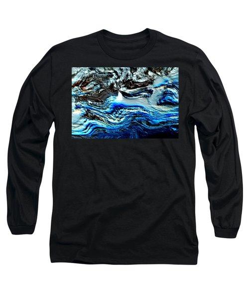 Long Sleeve T-Shirt featuring the digital art Lumenittoral by Richard Thomas