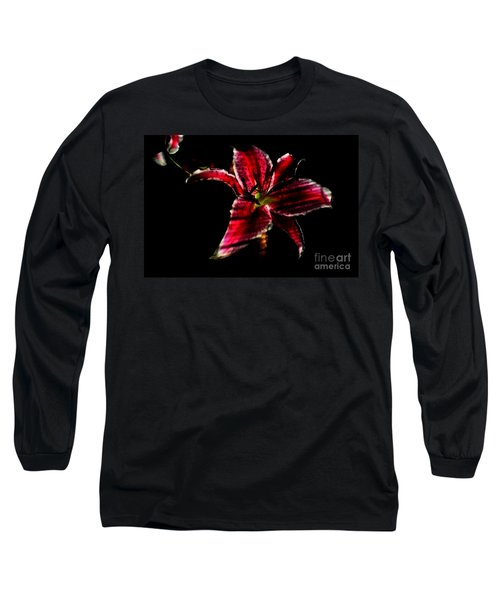 Long Sleeve T-Shirt featuring the photograph Luminet Darkness by Jessica Shelton