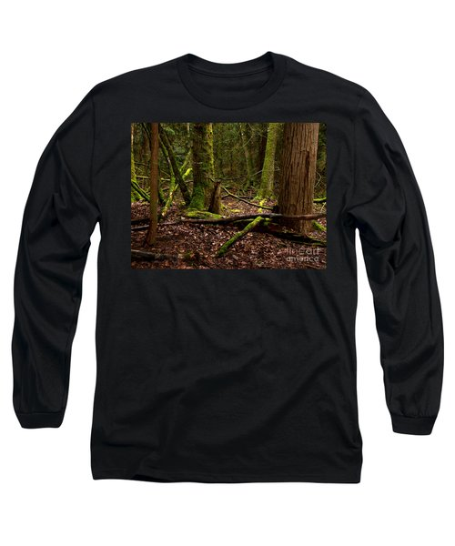 Lush Green Forest Long Sleeve T-Shirt