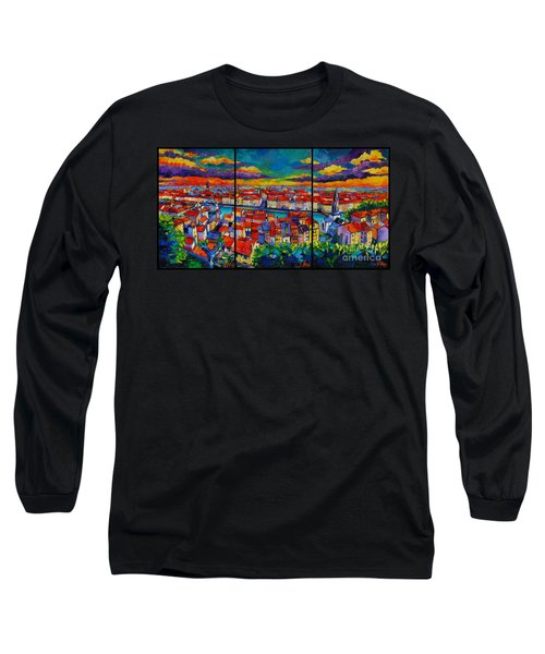 Lyon Panorama Triptych Long Sleeve T-Shirt