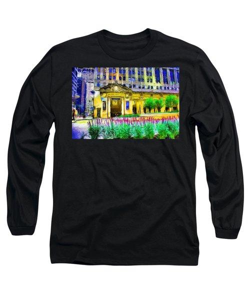 Lyric Opera House Of Chicago Long Sleeve T-Shirt by Ely Arsha
