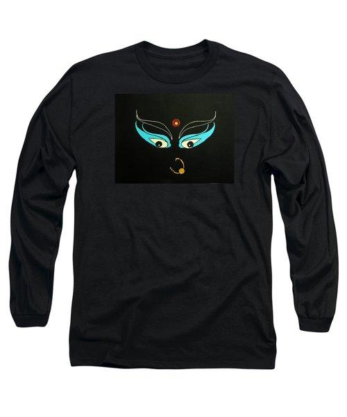Maa Kali II Long Sleeve T-Shirt by Kruti Shah