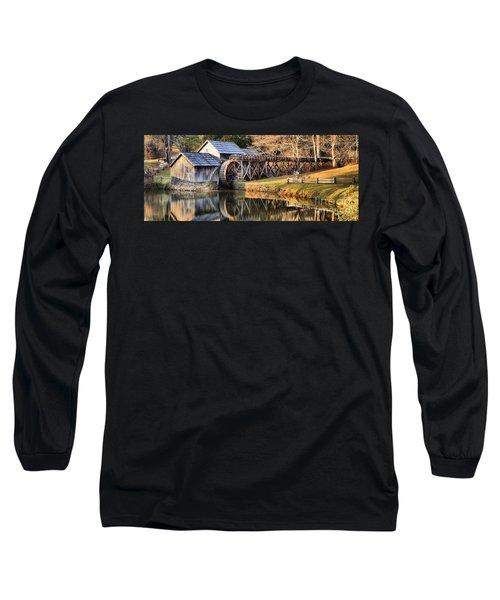 Mabry Grist Mill Fall Panorama Long Sleeve T-Shirt
