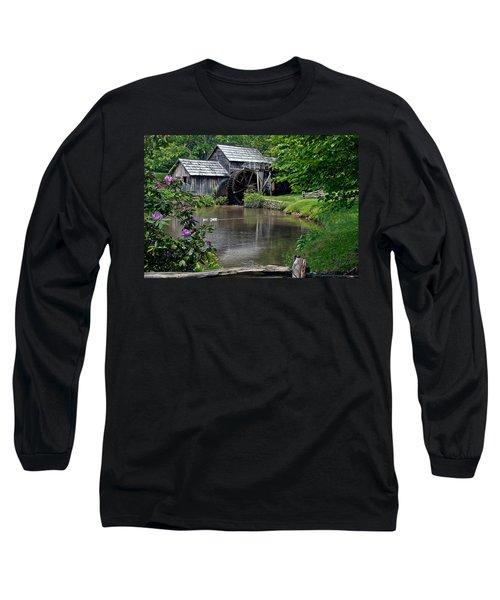 Mabry Mill In May Long Sleeve T-Shirt by John Haldane