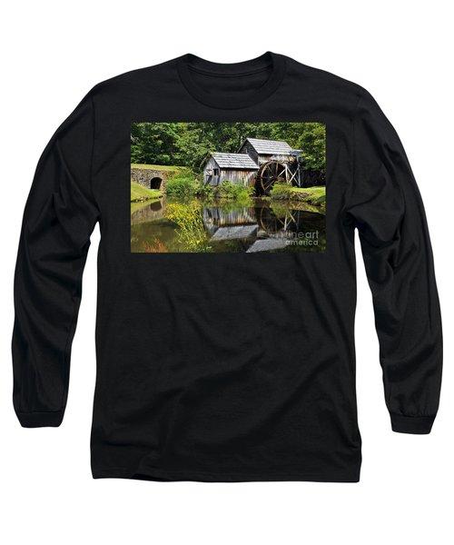 Mabry Mill In Virginia Long Sleeve T-Shirt