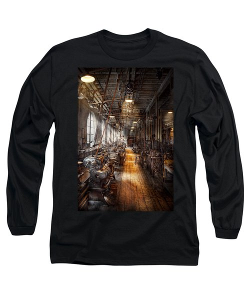 Machinist - Welcome To The Workshop Long Sleeve T-Shirt