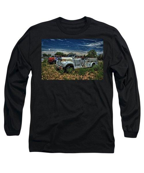 Long Sleeve T-Shirt featuring the photograph Mack Fire Truck by Ken Smith