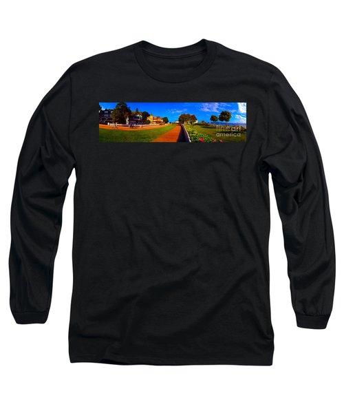 Long Sleeve T-Shirt featuring the photograph Mackinac Island Flower Garden  by Tom Jelen