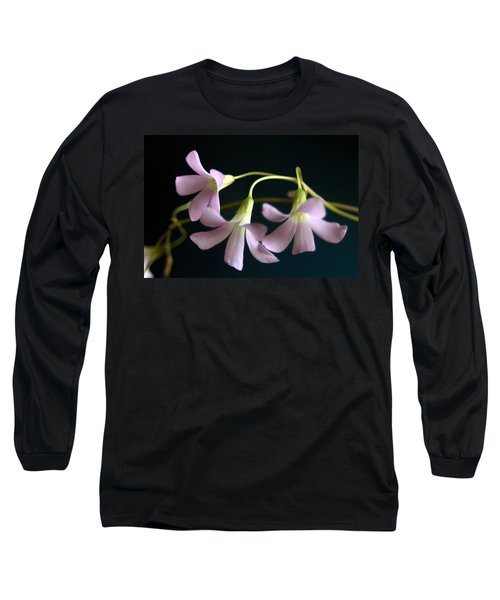 Macro Clover Long Sleeve T-Shirt by Greg Allore