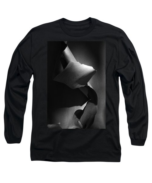 Madrona Bark Black And White Long Sleeve T-Shirt by Yulia Kazansky