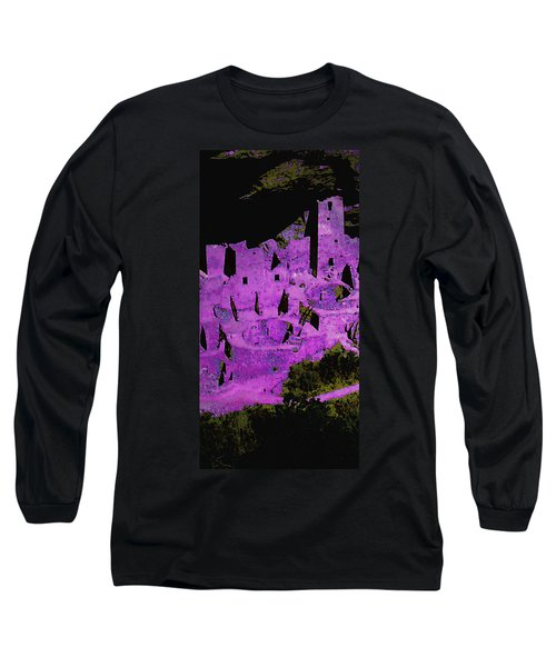 Magenta Dwelling Long Sleeve T-Shirt