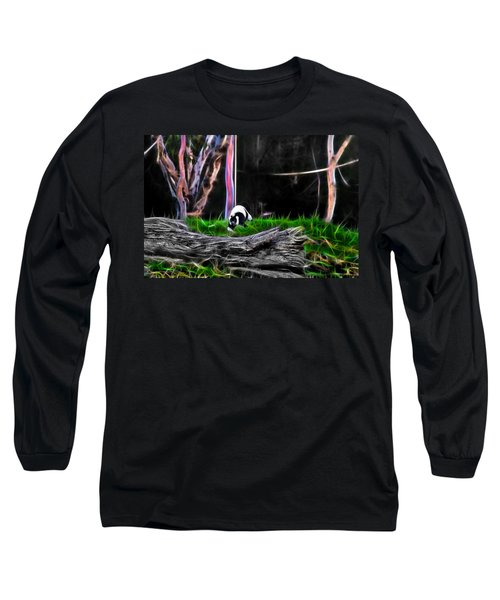 Walk In Magical Land Of The Black And White Ruffed Lemur Long Sleeve T-Shirt