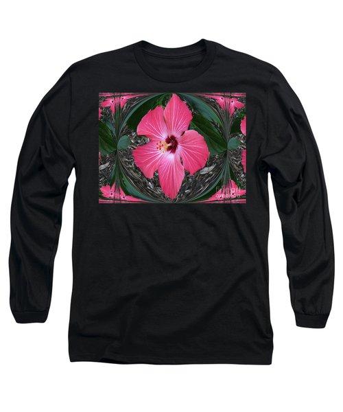 Magnificent Flower Long Sleeve T-Shirt by Oksana Semenchenko