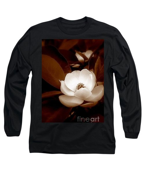 New Orleans Magnolia Beauty Long Sleeve T-Shirt by Michael Hoard