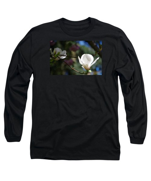 Magnolia Blossoms Long Sleeve T-Shirt by Marilyn Wilson