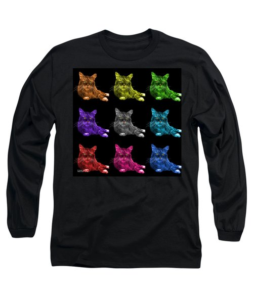 Maine Coon Cat - 3926 - Bb - M Long Sleeve T-Shirt