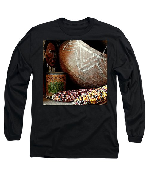 Pottery And Maize Indian Corn Still Life In New Orleans Louisiana Long Sleeve T-Shirt by Michael Hoard