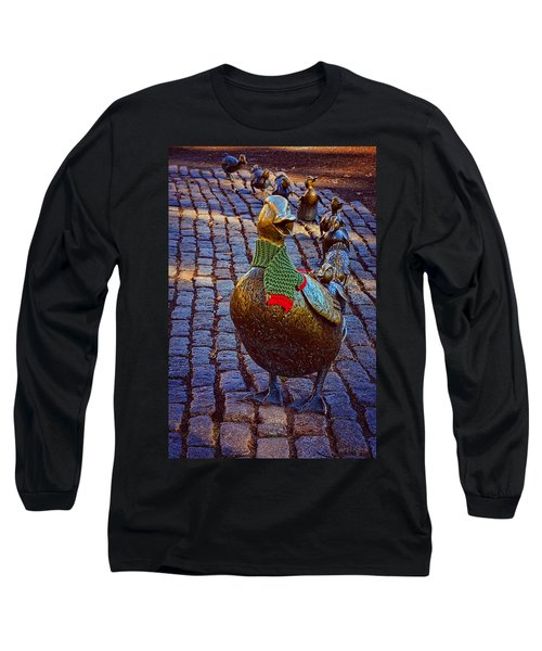 Make Way For Ducklings Long Sleeve T-Shirt