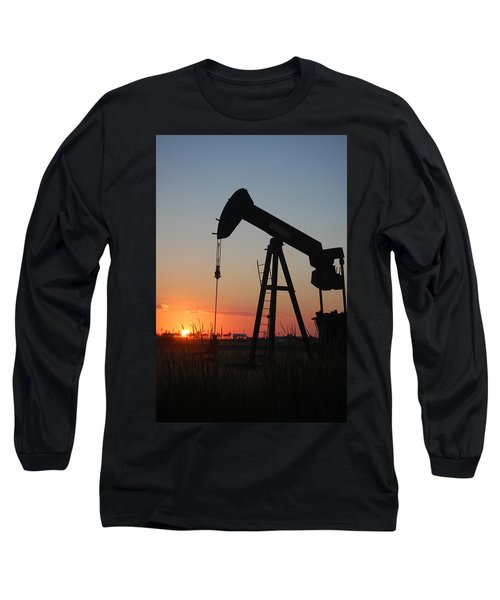 Making Tea At Sunset Long Sleeve T-Shirt