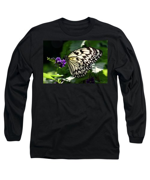 Long Sleeve T-Shirt featuring the photograph Malabar Tree Nymph  by Suzanne Stout