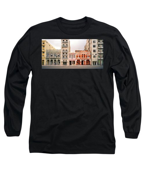 Malecon In Havana Long Sleeve T-Shirt