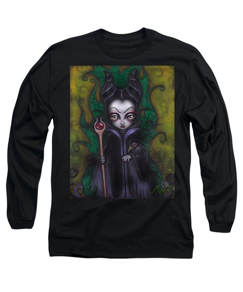 Maleficent  Long Sleeve T-Shirt by Abril Andrade Griffith
