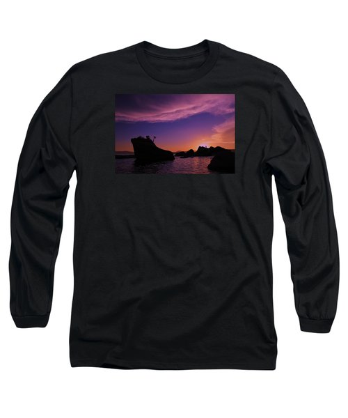 Long Sleeve T-Shirt featuring the photograph Man In Sun At Bonsai Rock by Sean Sarsfield