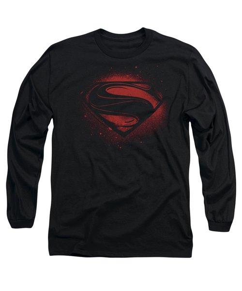 Man Of Steel - Super Spray Long Sleeve T-Shirt
