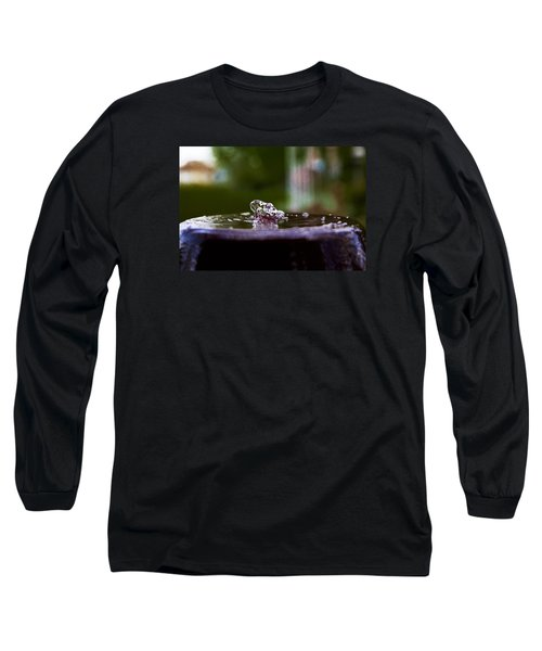 Long Sleeve T-Shirt featuring the photograph Man On The Surface by Mez
