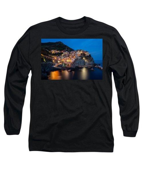 Long Sleeve T-Shirt featuring the photograph Manarola by Mihai Andritoiu