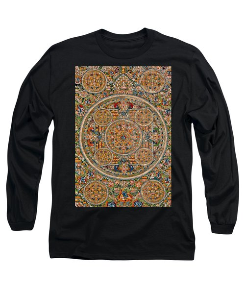 Mandala Of Heruka In Yab Yum And Buddhas Long Sleeve T-Shirt