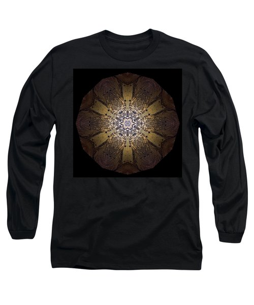 Long Sleeve T-Shirt featuring the photograph Mandala Sand Dollar At Wells by Nancy Griswold