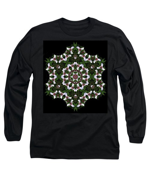 Mandala Trillium Holiday Long Sleeve T-Shirt