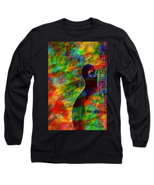Mandolin Magic Long Sleeve T-Shirt by Ally  White