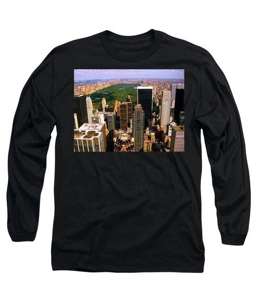 Manhattan And Central Park Long Sleeve T-Shirt