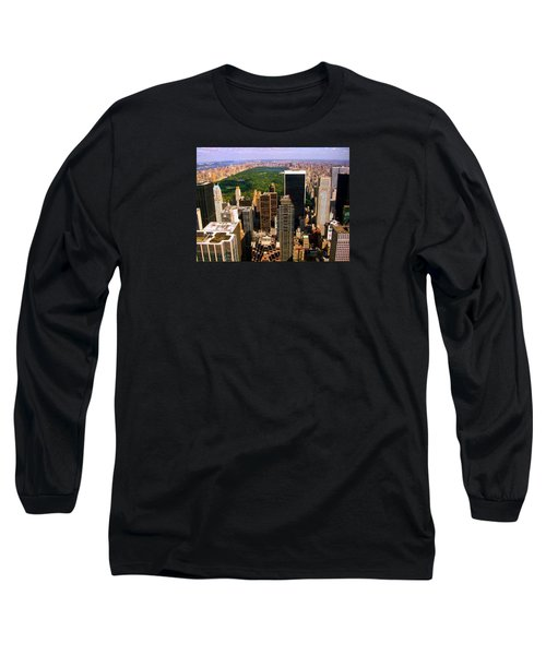 Manhattan And Central Park Long Sleeve T-Shirt