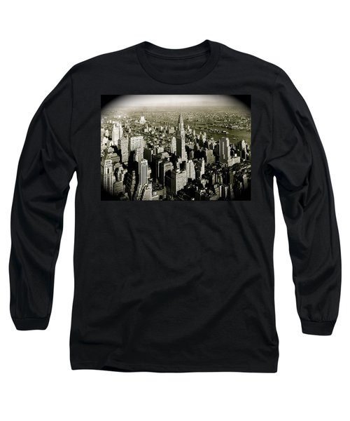 Manhattan And Chrysler Building II Long Sleeve T-Shirt