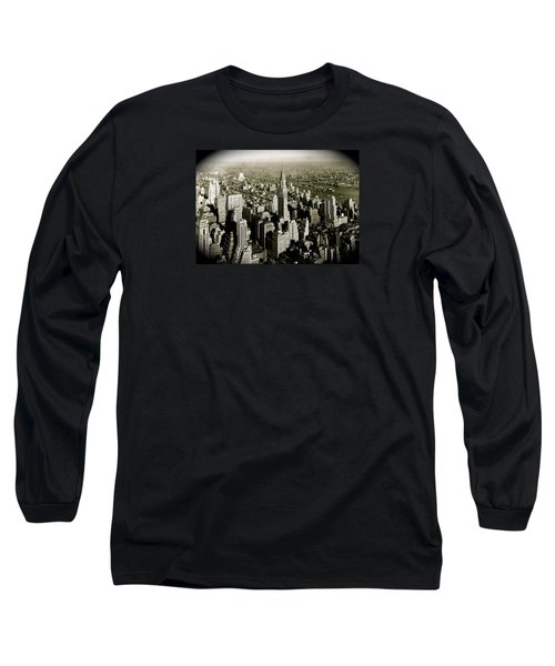 Manhattan And Chrysler Building II Long Sleeve T-Shirt