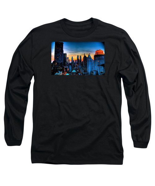 Manhattan At Sunset Long Sleeve T-Shirt