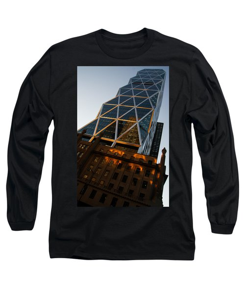 Manhattan Blues And Oranges Long Sleeve T-Shirt