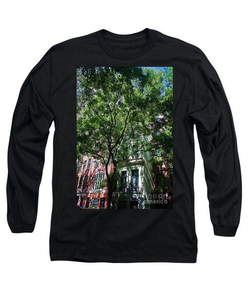 Long Sleeve T-Shirt featuring the photograph Manhattan Upper East Side Late Summer by Andy Prendy