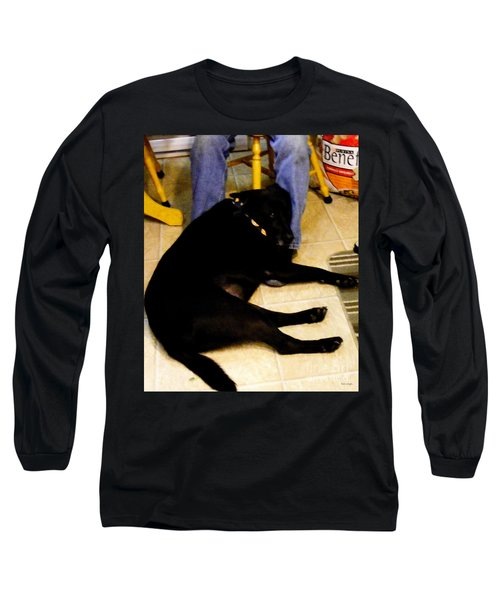 Man's Best Friend Long Sleeve T-Shirt by Barbara Griffin