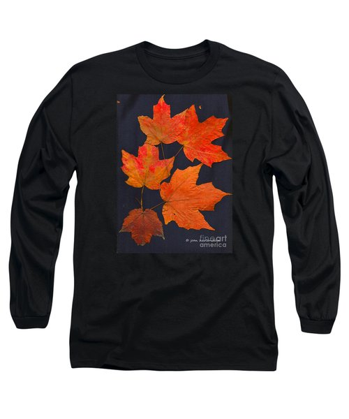 Maple Leaf Tag II Long Sleeve T-Shirt by Joan Hartenstein