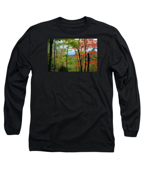 Maples Against Lake Superior - Tettegouche State Park Long Sleeve T-Shirt