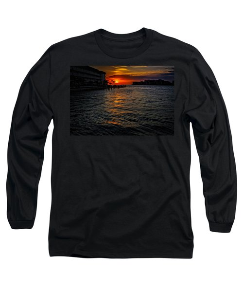 Long Sleeve T-Shirt featuring the photograph Marco Island Sunset 43 by Mark Myhaver